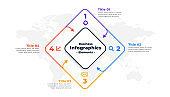 four steps infographic report presentation template design