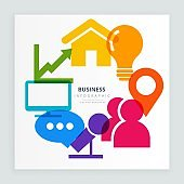 abstract modern business colorful icons infographic design