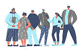 Young adult characters isolated Vector flat design