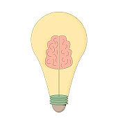 Creative idea. Smart solution lightbulb. Vector metaphor symbol