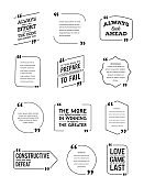 Typographic Quote Template Bubble. Template Vector Big Set.