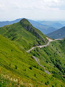 mountain road in the french mounts of Cantal