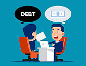 Business loan agreement. Money and Currency concept