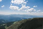 Beautiful forest landscape in the Carpathians