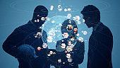 Global communication network concept. Worldwide business. Sustainable development goals. SDGs.