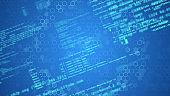 Digital transformation concept. Binary code. Programming.