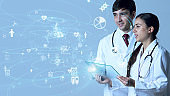 Medical technology concept. Research and Development. Drug discovery.