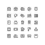 Home Appliances Outline Icons
