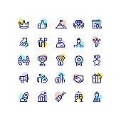 Success & Rewards Outline Icons