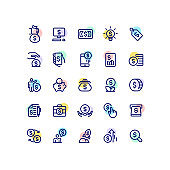 Finance Money Business Outline Icons