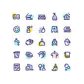 Cleaning Outline Icons
