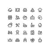 Restaurant Outline Icons
