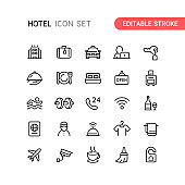 Editable stroke icon set