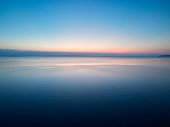 Twilight photo of the sea after sunset