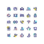 Hotel Services Outline Icons