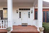 Beautiful front door to suburban home
