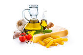 Italian ingredients isolated on white background