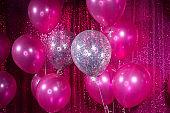 Pink Valentine Balloon at event