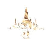"""Illustration Thai temple """"Wat arun"""""""