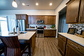A Beautifully Decorated And Furnished New Home Modern Kitchen