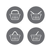 Shopping basket vector icons
