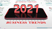 Business trends graph and charts global 2020 recession