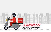 Order delivery online.