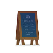 Menu black board isolated icon in flat style