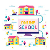 Online school in every house. Accessibility of e-learning and development of internet education.