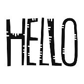 Hello. Handwritten lettering for greeting cards, posters, stickers and other design.