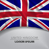 UK happy national day greeting card, banner vector illustration