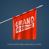 Grand opening or re-opening vector illustration, background for new store