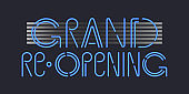 Grand opening or reopening vector banner, illustration.