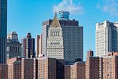 Two Bridges New York City Skyline