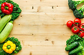 Fresh colorful organic vegetables - farming and healthy food, top view