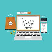 E Commerce Sale Concept