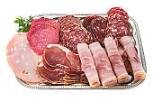 tray of cooked meats