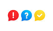 Quiz logo icon vector. Bubble speeches with question and check mark signs. Concept of social communication, chatting, interview, voting, discussion, talk, team dialog, group chat.