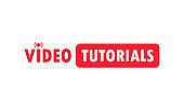 Video tutorials icon concept. Video conference and webinar icon, internet and video services. Vector on isolated white background. EPS 10