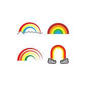 Rainbow Icon Flat Vector Illustration