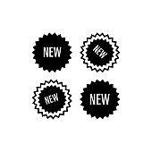 Retail icon : new label illustration trendy flat design