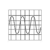 Sine wave icon vector logo