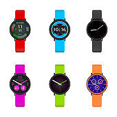Smart watch user interface design collection