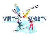 winter sport concept banner