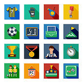 flat icon soccer