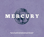 Hand drawn Mercury planet