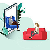 Psychotherapy online, helpline depression, conversation consulting and psychological help