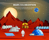 planet colonization terraforming station flat composition