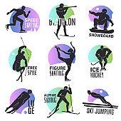 winter sports emblems