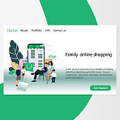 Family online shopping, website page template
